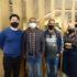 (左から)『エスパッソ和』で長谷川さん、サプコタさん、一人置いてプリャさん
