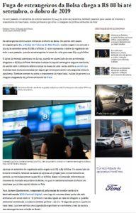 サンパウロ株式市場(2日付エスタード紙電子版の記事の一部)