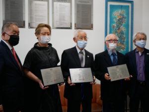 石川会長、呉屋前会長、瀬川氏、山内8代会長、中島事務局長