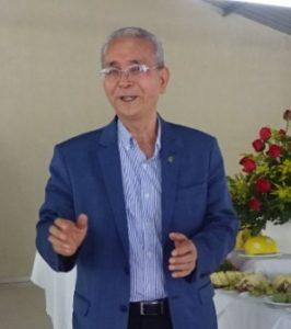 「日系社会存続のためにコチア青年が中心になって最後の社会奉仕をしてもらいたい」と熱弁を振るう援協評議員会の菊地義治会長