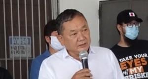 「日本の文化施設経営法を教えてください」と、あいさつするジャンジーラ市の佐藤ヘンリー市長