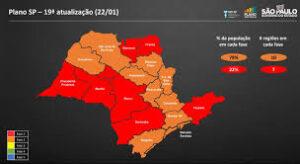 サンパウロ州の現状の外出自粛規制レベル(Plano SP)