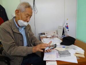 今も大韓老人会の会長を務める金進卓さん