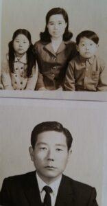移民した頃の進卓さんと妻、子どもたち