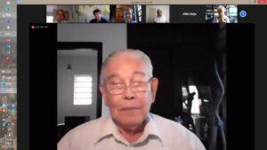 今年の活動予定を説明する吉岡会長