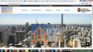 サンパウロ市のIPTUのサイト