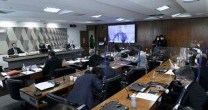 現政権のコロナ対策について調査するCPI(18日、Edison rodorigues.Agencia Senado)