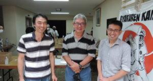 3県人会の会長(左から上利会長、鈴木会長、吉田会長)