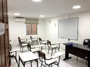 新教室の1室(マナウス総領事館提供)
