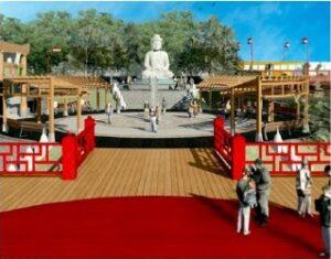 高さ6mの大仏をアラメダ・ジュニオール公園に作るという計画も(企画書より)