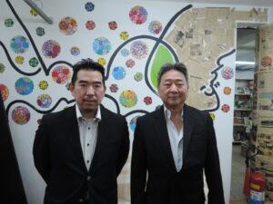 左からJFC Tradbras社の森氏、石井氏